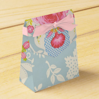 Ballotins Sac floral bleu chic minable de cadeau de cadeau