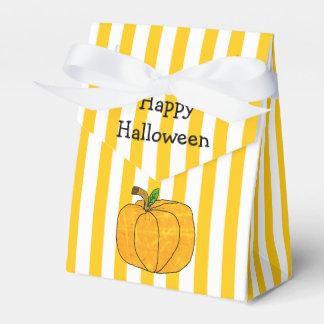 Ballotins Sac rayé blanc orange de faveur de Halloween de