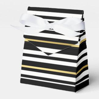 Ballotins Smoking noir et double or blanc de rayure formel