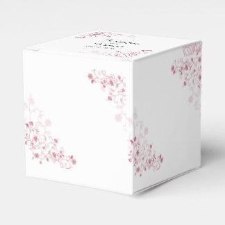 Ballotins Vignes fleurissantes roses épousant le ballotin