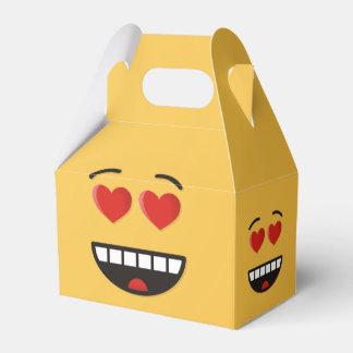 Ballotins Visage de sourire avec les yeux en forme de coeur