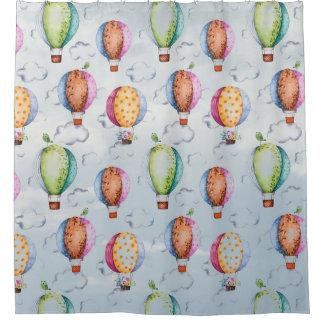 Baloon et rideau en douche d'oiseaux