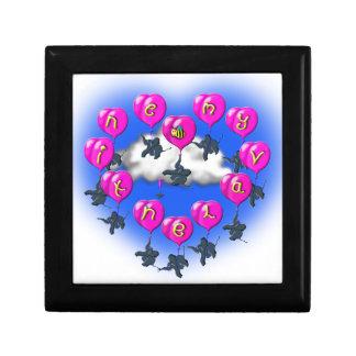baloons de valentines avec des éléphants boîte à souvenirs
