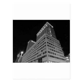 Baltimore du centre noir et blanc carte postale
