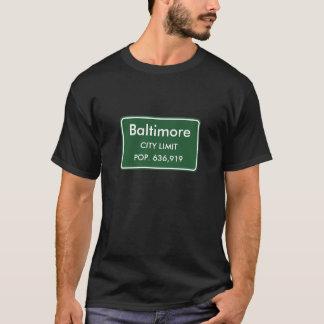 Baltimore, signe de limites de ville de DM T-shirt