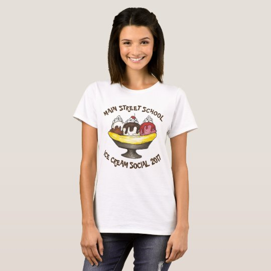 Banana split social personnalisé de partie de t-shirt
