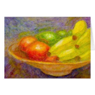Bananes, tomates et chaux, carte de voeux