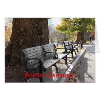 Banc de parc, terrains communaux de Boston, le Carte