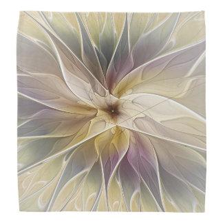 Bandana Art floral de fractale d'abrégé sur aubergine d'or