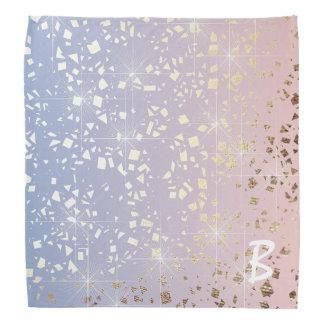 Bandana Bleu de sérénité de quartz rose d'étincelle