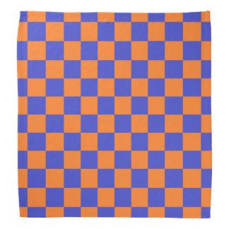 Bandana Bleu et orange Checkered