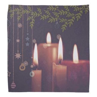 Bandana bougies de Noël