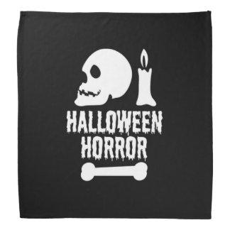 Bandana Crâne d'horreur de Halloween par bougie et un os