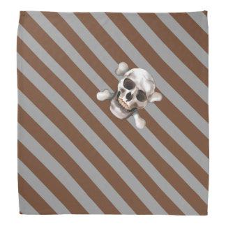 """Bandana Crâne et os croisés de Brown """"le pirate gris de n"""