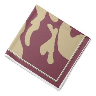 Bandana de camouflage d'or de grenat