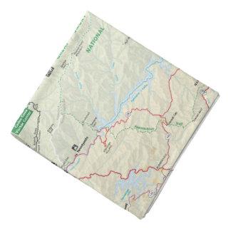 Bandana de carte de Great Smoky Mountains