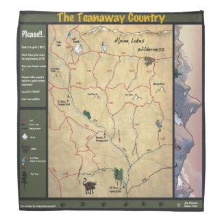 Bandana de carte de Teanaway