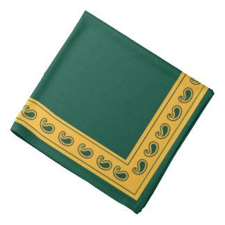Bandana de Paisley le Texas d'or vert