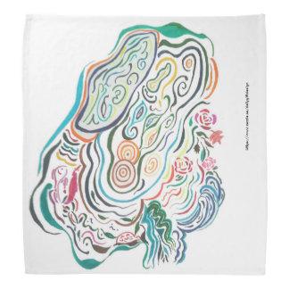 Bandana Dessin de stylo de couleur - ondulation d'étang