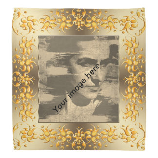 Bandana Fram d'or de damassé florale. image.text.
