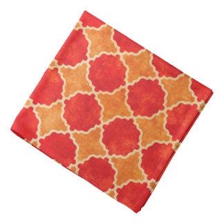 Bandana Géométrique rouge d'automne de Flutterby