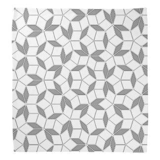 Bandana gris et blanc de carrelage de Penrose