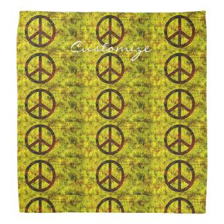 Bandana jaune super hippie de symbole de paix des années