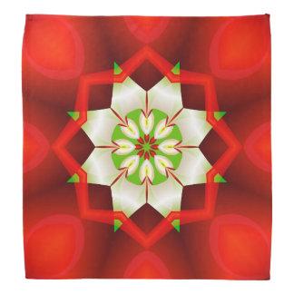 Bandana Kaléidoscope simple de fractale de Noël