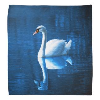 Bandana Lac blanc élégant blue de calme de cygne