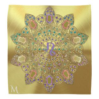 Bandana Mandala d'or de Lion de signe de Zoidac