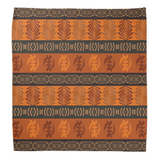 Bandana Motif africain ethnique avec des simbols d'Adinkra