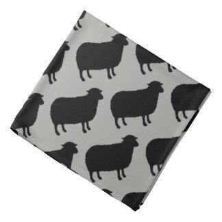 Bandana Motif de silhouettes de moutons noirs