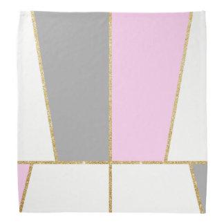Bandana motif élégant clair moderne de scintillement d'or