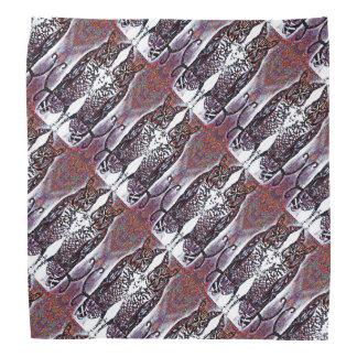Bandana Motif reflété décoratif de hibou