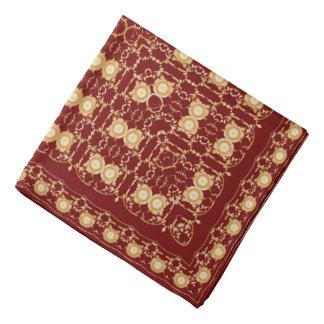 Bandana Mouchoir rouge avec l'ornement d'or