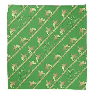 Bandana Noël occidental d'or de vert de cheval de plaisir