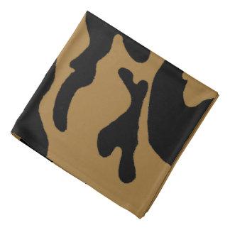 Bandana noir de camouflage d'or