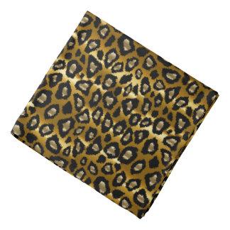 Bandana Noir et motif animal de léopard d'or