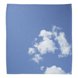 Bandana Nuages blancs et ciel bleu