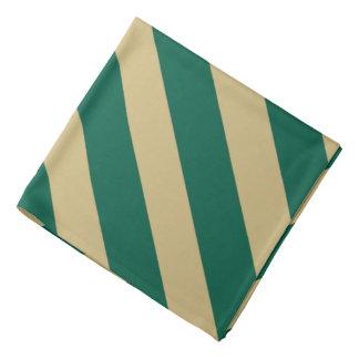 Bandana rayé classique de Dialgonal d'or vert