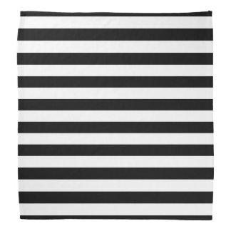 Bandana rayé noir et blanc