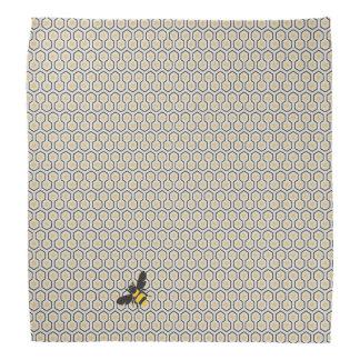 Bandana Rétro motif de grille coloré de nid d'abeilles