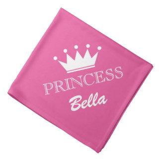 Bandana rose de chien de couronne de princesse