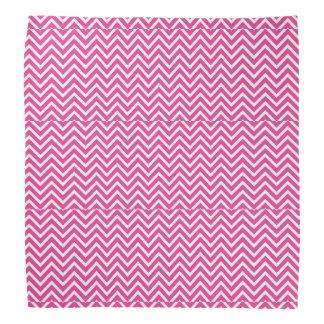 bandana rose et blanc de zigzag