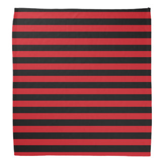 Bandana rouge et noir de rayures