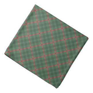 Bandana Vert et rouge écossais de motif de plaid de buffle
