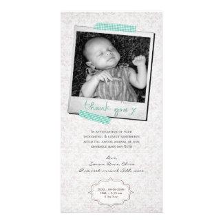 Bande bleue de Washi de bébé de note de Merci Carte