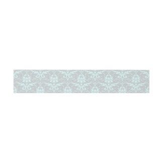 Bande bleue élégante de ventre d'invitation de bandeau de faire-part