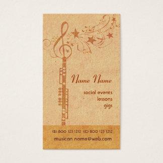 Bande de hautbois de musique - instrument de cartes de visite