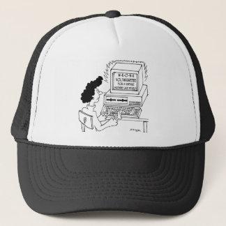Bande dessinée 4369 d'ordinateur casquette